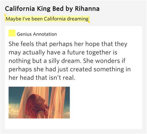 california king bed rihanna lyrics maybe i ve been california dreaming california king bed