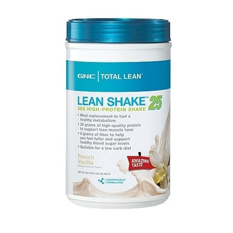 Does Gnc Sell Detox Drinks by Gnc Total Lean Shake Vanilla 25g High Protein