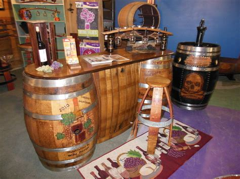 Wine Bar Table Wine Barrel Wine Bar Traditional Indoor Pub And Bistro Tables Other Metro By Wine Design