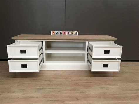 tv dressoir finn tv meubel finn wit eiken 165 kast2go