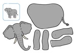 Animal cut and paste for k ds 187 elephant cut and paste printables