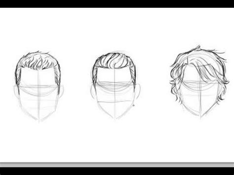 how to draw men s hair youtube