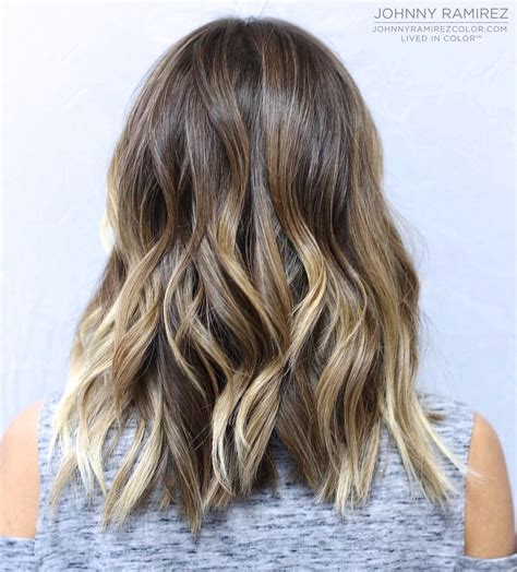 brunette light brown highlights balayage wavy 70 brightest medium length layered haircuts and hairstyles