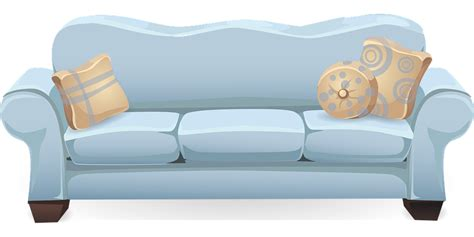 couch svg free vector graphic couch sofa blue pillows free