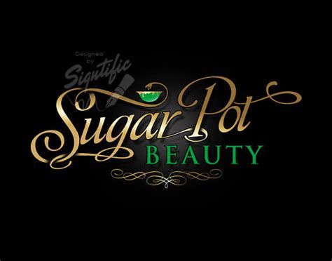 cute names for hair salons beauty salon logo custom business logo gold and green