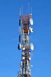 cell phone tower stock photo image  phone satellite