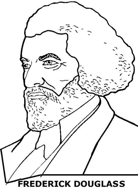 Frederick Douglass Coloring Page frederick douglass color page black history