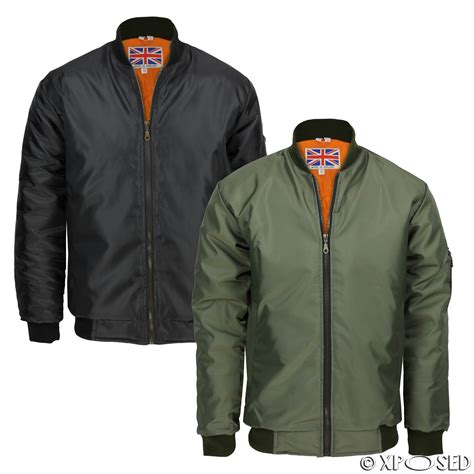 Fly Bomber Jacket new mens ma1 army pilot fly bomber jacket biker harrington