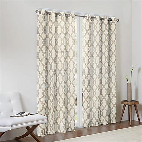 fretwork curtains buy madison park bond 95 inch textured fretwork printed