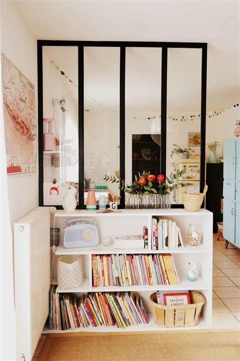 Attrayant Decoration Interieur Maison Pas Cher #3: verriere-interieure-cuisine-vintage-bibliotheque.jpg