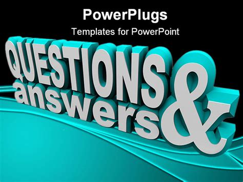 powerpoint templates for question and answer the words questions and answers in 3d and on an angle