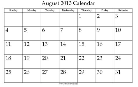 august 2013 calendar printable image gallery 2013 august calendr