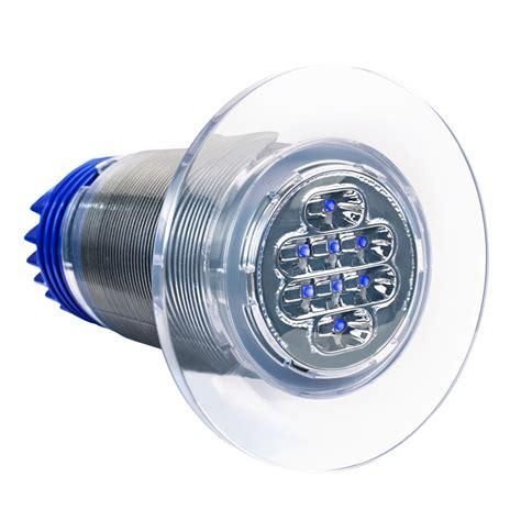 led thru hull boat lights aqualuma 12 series gen 4 led thru hull underwater light in