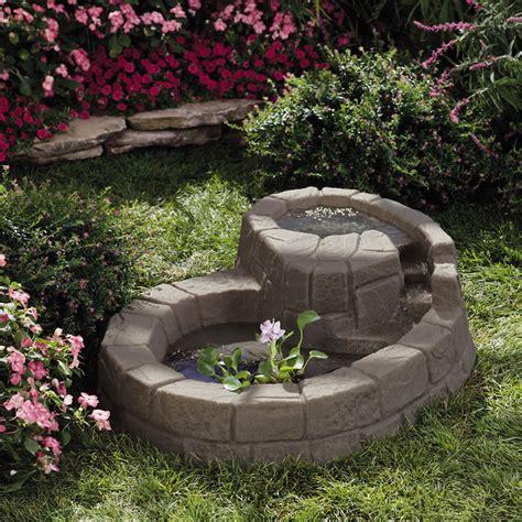 backyard pond fountains stone hill tranquility pond small garden ponds