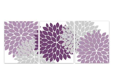 purple bathroom wall decor home decor wall instant purple grey flower burst