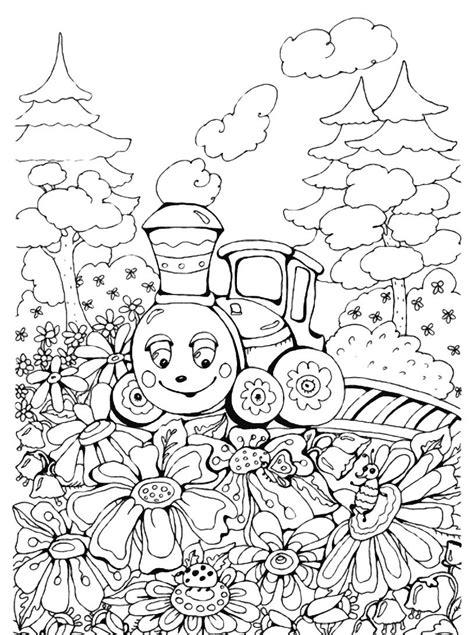 disegni sui fiori un trenino sui fiori disegno da colorare disegni da