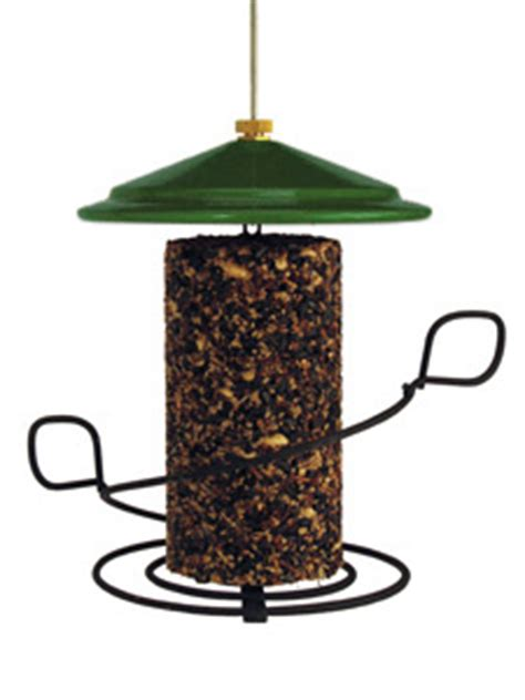 wbu seed cylinder bird feeder green roof