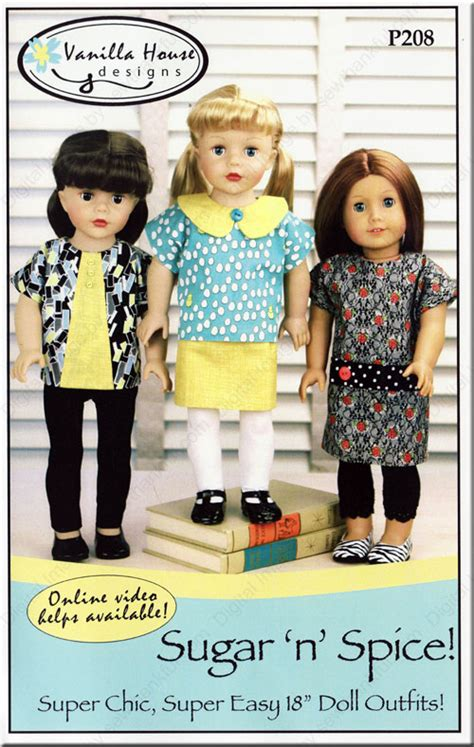 design patterns of house front sugar n spice doll sewing pattern from vanilla house designs