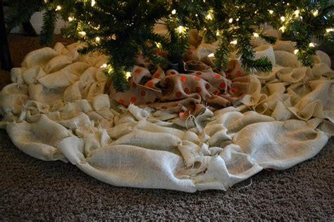 diy no sew ruffle christmas tree skirt the thinking closet