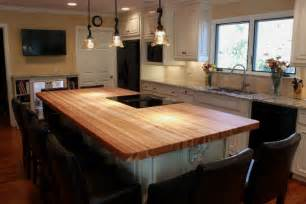 Kitchen Island With Butcher Block Top by Wood Top Kitchen Island Kitchen Traditional With Butcher
