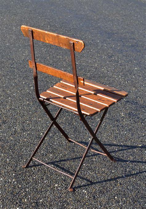 chaise bistro metal mobilier de jardin ancien vendu