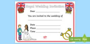design a wedding invitation ks1 design a royal wedding invitation activity harry and meghan