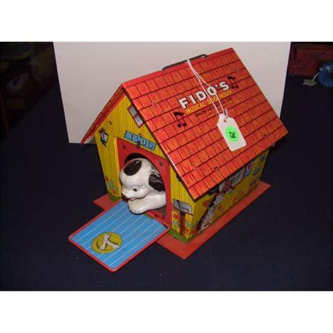 dog house toy vintage childs tin ohio art fido s musical dog house toy