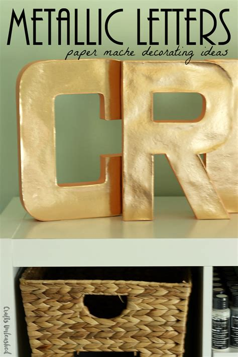 decorating paper mache letters for the home