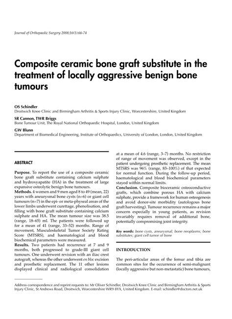 ceramic bone graft pdf composite ceramic bone graft substitute in the