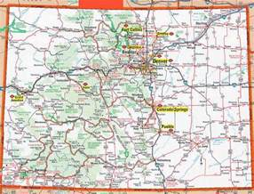 colorado state cus map detailed roads and highways map of colorado state