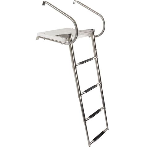 boat ladder telescoping harbor mate telescoping boat ladder discount rs