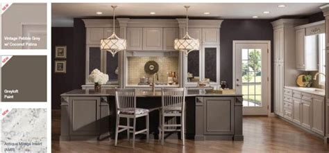 pin by cherrie gray on places pictures old and gray painted kitchen cabinets with warm floors and