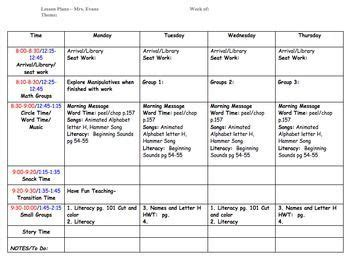 Emergent Curriculum Planning Template by Emergent Curriculum Preschool Lesson Plan Template