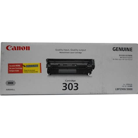 Toner Canon 303 toner cartridge no toner cartridge error in canon 2900