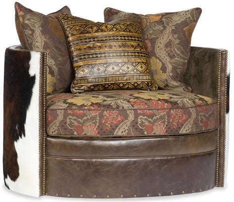 Wrap Around With Recliner by Wrap Around Swivel With Western Accent