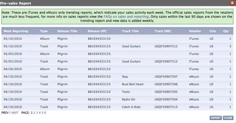 sle of report get weekly itunes sales reports for free reverbnation