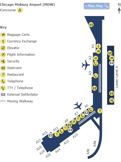 chicago midway airport map chicago midway airport map my