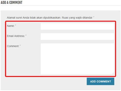 cara membuat kotak komentar di website dengan html cara menghapus kolom web di kotak komentar wordpress