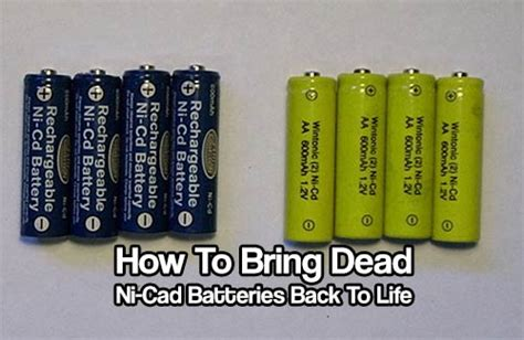 how to your to bring the back how to bring dead ni cad batteries back to shtf prepping homesteading central