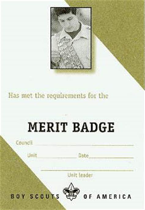 merit badge card template eagle scout rank application