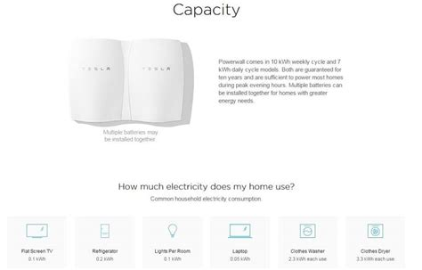 Tesla Battery Capacity Tesla Launches Powerwall Home Battery 3 5k For 10kwh