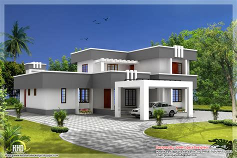 flat roof home designs house plans designers modern house