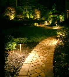 Staggering path lights create interest and safety without looking like