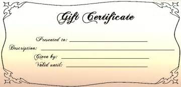 free gift certificate template free printable blank gift certificates