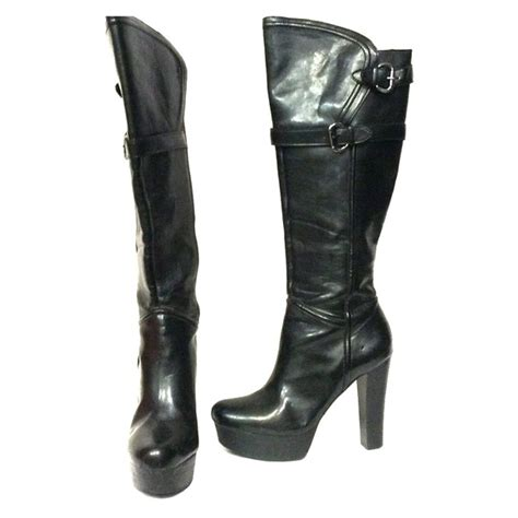 86 guess by marciano shoes guess black knee high