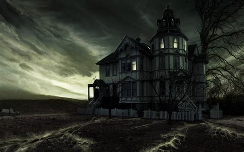 haunted house wallpaper 16050647 fanpop
