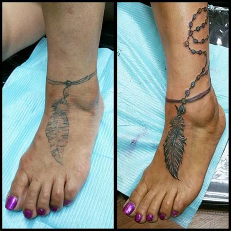 ankle cover up tattoos 55 cover up tattoos impressive before after photos