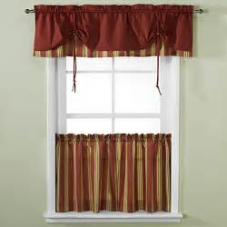 Kitchen Curtains Valance Buy Versa Tie 174 Stripe Window Curtain Valance From Bed Bath Beyond