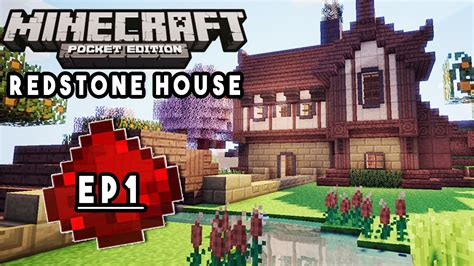 redstone house tutorial let s build mcpe redstone house ep1 redstone lighting house design redstone