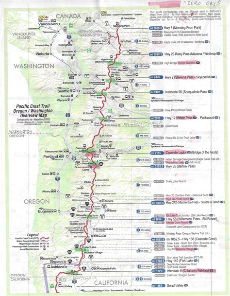 pct oregon map 2016 southbound pacific crest trail thru hike